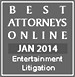 Best Attorneys Online Entertainment Litigation